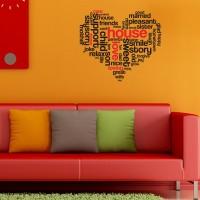 Wall Stiker House Quotes Kamar Tidur Custom WordCloud Dinding Kaca