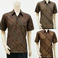 Baju Batik Solo. Batik Ayusari. Kemeja Batik Sogan Premium