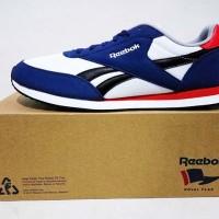 Sepatu Casual Reebok Royal CL Jog 2 Sea Biru Putih Original Asli Murah