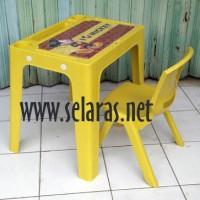 1 Kursi Anak Plastik OK305 set 1 Meja OKT Olymplast Kuning