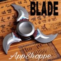 Fidget Spinner Shuriken Alloy Metal Smooth Spin Series BLADE