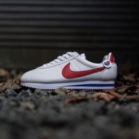 Nike cortez white OG Leather / forrest gump putih merah biru