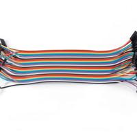harga Kabel Jumper Arduino 20cm Female To Female 40pin 40p Pelangi Rainbow Tokopedia.com
