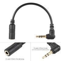 Andoer Microphone Adapter Cable Smartphone Mic To PC & DSLR Camera