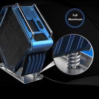 CUBE GAMING BEAST BLUE Alumunium Case Tempered Glass B2423
