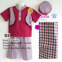 K146 (3-12 bln) Baju Muslim Bayi / Koko Bayi Labella KB-03 Top 03