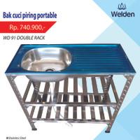 Bak Cuci Piring - Kitchen Sink Kaki Meja Rak Portable Welden 91PK2