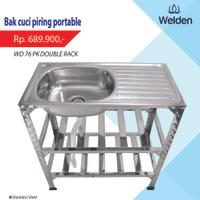 Kitchen Sink Kaki Meja Rak Portable Welden 76PK2