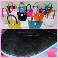 TOTE BAG/TAS HELLO KITTY/DOMPET HELLO KITTY/HK/COLORFULL