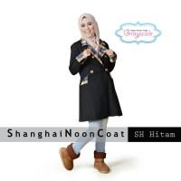 Jual Baju Muslim Wanita Blazer Muslimah Hitam Shanghai Coat Murah