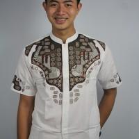 Baju koko pria bordir EQ126 Putih