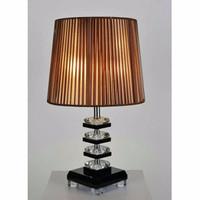 lampu meja minimalis ukuran kap 25 x 20 cm tinggi 45 cm body crystal G