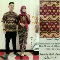 Jual Batik Couple / kebaya / batik Sarimbit Zigzag Lilit Murah