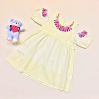 Jual Yellow Embroidery Dress Murah