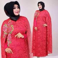 baju kaftan brukat melinda/gamis muslim terbaru modern/pakaian wanita