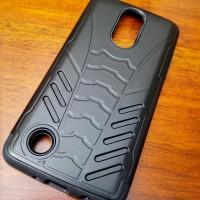 Bumper Bat Shield Armor Dual Layer Hard Case Cover Casing LG K10 2017