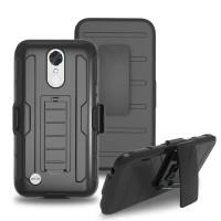 Bumper Police Armor Holster Hard Soft Case Cover Casing LG K8 2017