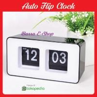 Auto Flip clock flip flap clok jam meja unik desain elegan minimalis