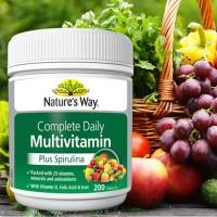 Natures Way Multivitamin Plus Spirulina 200 Tablet Menjaga Stamina