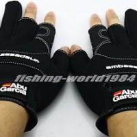 sarung tangan New 2016 Abu Garcia Non-Slip Fishing Gloves Gripping