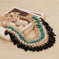 kalung _ Hot Fashion Jewelry Crystal Chunky Statement Bib Pendant Cha