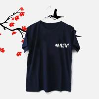 Tumblr Tee / T-Shirt / Kaos Wanita Lengan Pendek #ANJAY Warna Navy