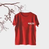 Tumblr Tee / T-Shirt / Kaos Wanita Lengan Pendek #ANJAY Warna Maroon