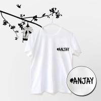 Tumblr Tee / T-Shirt / Kaos Wanita Lengan Pendek #ANJAY Warna Putih
