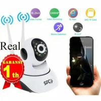 Jual IP Camera CCTV PTZ Indoor Night Vision 720P HD WiFi Dual Antenna Murah