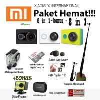 Jual (Paket Hemat 6in1) Xiaomi Yi + Waterproof + Memori Sandisk Ultra +case Murah