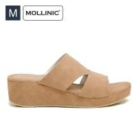 Sepatu Wanita Mollinic Biya Bigs Wedges Camel