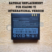 Jual Baterai Bateray For Xiaomi Yi Cam International Merk Satoo Original Murah