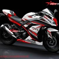 Decal stiker Ninja 250R Fi White super red