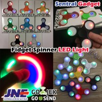 FIDGET SPINNER LED LAMP | SPINER LAMPU LED 3 SISI HAND TOY