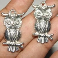 Jual Silver OWL Pendant | Liontin Burung Hantu Silver Murah