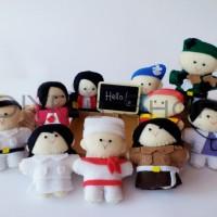 Boneka Jari Seri Profesi isi 10 by Rahmahandmade Finger Doll Storytime
