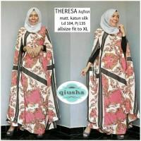 Long Dress Maxi Wanita Muslim Kaftan theresa Jumbo XL