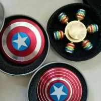 Jual spinner high quality captain america Murah