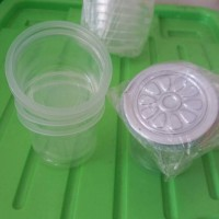 cup puding ikan koi / cup puding bebek lengkap dengan tutup