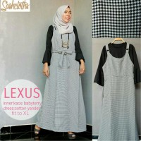 jumpsuit Long Dress Maxi Wanita Muslim kotak lexus XL