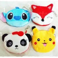 Jual Pouch Handbag tamagotchi Lilo red Fox plush Panda Pikatchu/dompet tama Murah