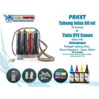 Tabung Infus Sudah Isi Tinta DYE One Ink Canon 60ml Tinggal Pasang