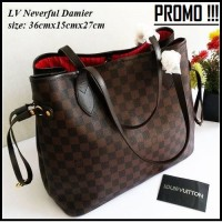 TAS BRANDED WANITA LV NEVERFULL IMPORT HANDBAG LOUIS VUITTON IMPOR