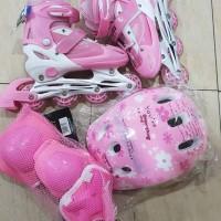 Jual Sepatu Roda Anak 1set Helm dan Dekker / Inline Skate Murah Murah