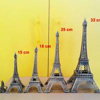 Jual Miniatur Menara Eiffel Paris 32cm Tembaga Murah