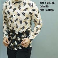 Kemeja Batik Slimfit Lengan Panjang/ Desain Modern/ Kekinian