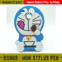 Jual Silver Goldy Xiaomi Redmi 3 Pro 3s Prime Doraemon 3D Cute Soft Case Ca Murah
