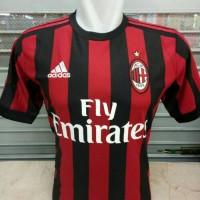 Jersey Bola AC Milan Home New 17/18 Grade ORI
