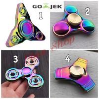 Jual Fidget spinner Titanium Rainbow Premium Murah