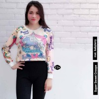 Baju Atasan Wanita Crop Top Babyterry Murah Terbaru Super Sweet Crop